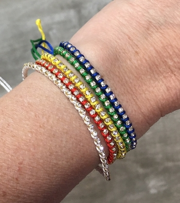 Image Camp Color Rhinestone Friendship Bracelets