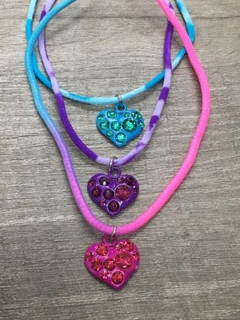 Image Rhinestone Heart Tie Dye Confettio