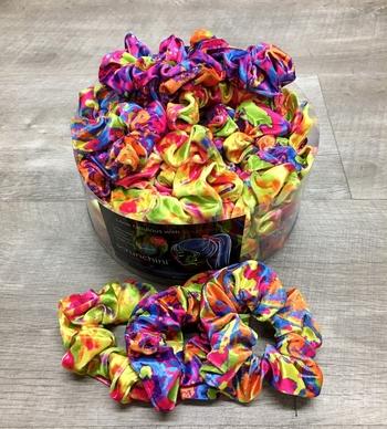 Image Neon Tye Dye Velvet Scrunchie