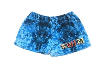 Image Blue Tie Dye Fuzzie Pajama Swim Shorts