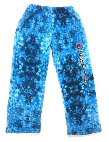 Image Blue Tie Dye Bestie Fuzzie Pants