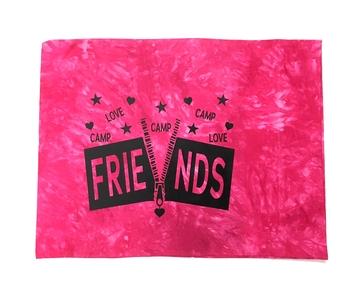 Image Zipper Friends Tie Dye  Autograph Pillow Case