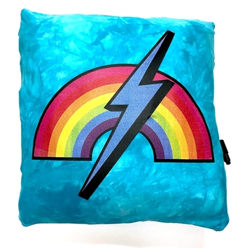 Image Rainbow & Lightening Bolt Autograph Pillow