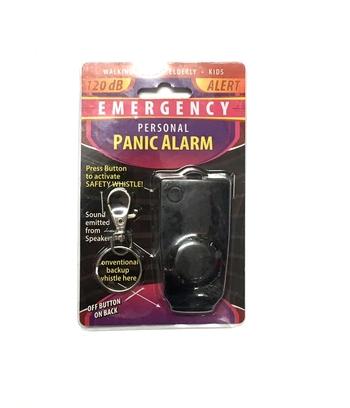 Image Black Panic Alarm Keychain