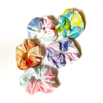 Image Velvet Tie Dye Scrunchie