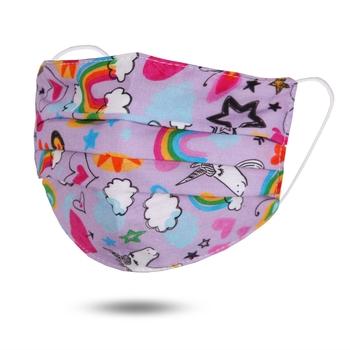Image Youth Lavender Unicorn Cotton Elastic Closure Mask