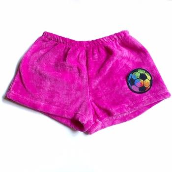 Image PinkTie Dye Fuzzy Pajama Tie Dye Soccer Ball Shorts