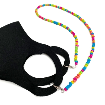 Image Neon Beaded Mask Chain