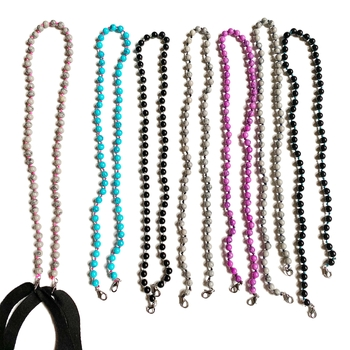 Image Stone Beads Mask Chains