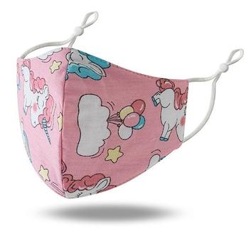 Image Youth Pink Unicorn Cotton Mask