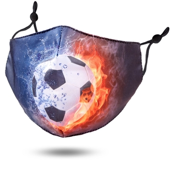Image Youth Fiery Soccer Cotton Mask