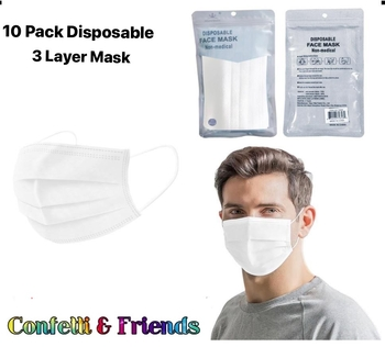 Image White Disposable 10 Pack Mask
