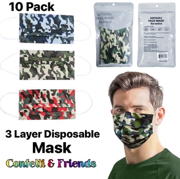Image Camouflage Disposable 10 Pack Mask
