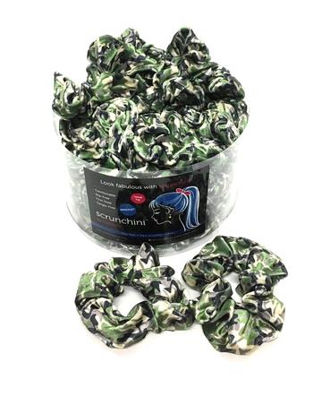 Image Green Camo Velvet Scrunchie