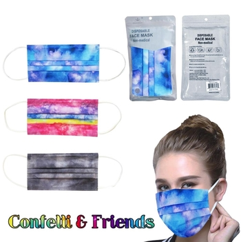 Image Tie Dye Disposable Masks