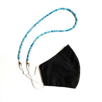 Image Denim Blue Beaded Mask Chain