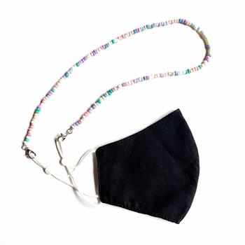 Image Tye Dye Pastel Beaded Mask Chain