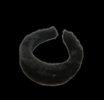 Image Black Fur Headband