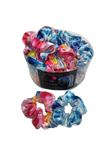 Image Pastel Swirly Velvet Scrunchies