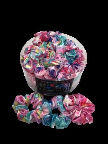 Image Pastel Rainbow Velvet Scrunchie