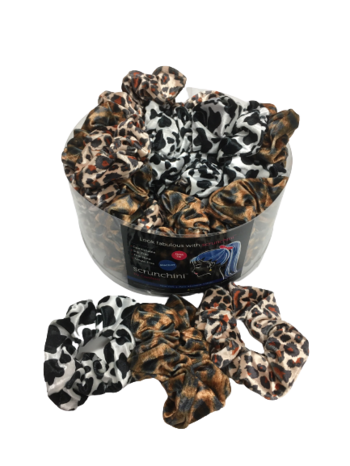 Image Animal Print Velvet Scrunchie