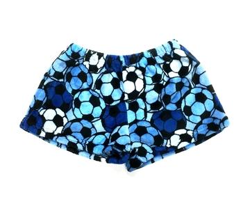 Image Girls Blue Soccer Fuzzy Shorts