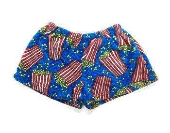 Image Popcorn Party Fuzzy Shorts