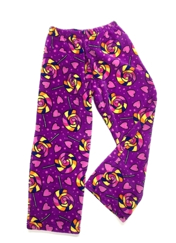 Image Purple Lolli Fuzzy Pants