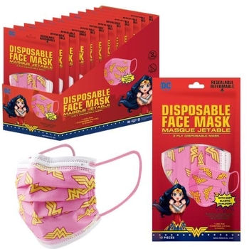 Image Wonder Woman 10 Pack Disposable Mask