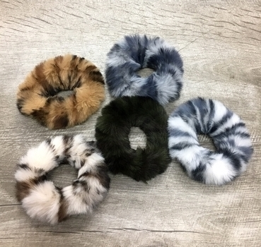 Image Animal Faux Fur Scrunchie