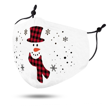 Image White Mask Adjustable  Snowman
