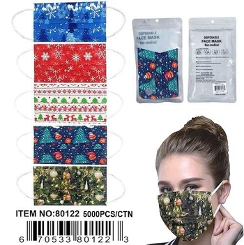 Image Christmas Disposable 10 Pack  Mask