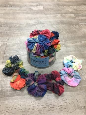 Image Fall Jersey Tie Dye Scrunchies