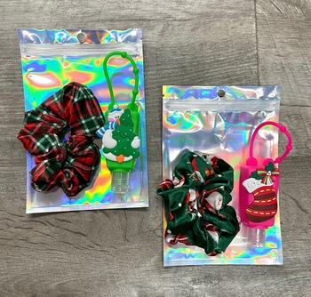 Image Christmas Sanitizer & Christmas Velvet Scrunchie Set