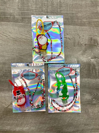 Image Sanitizer & Mask Chain Christmas Set