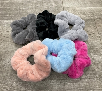 Image Minky Faux Fur Scrunchie