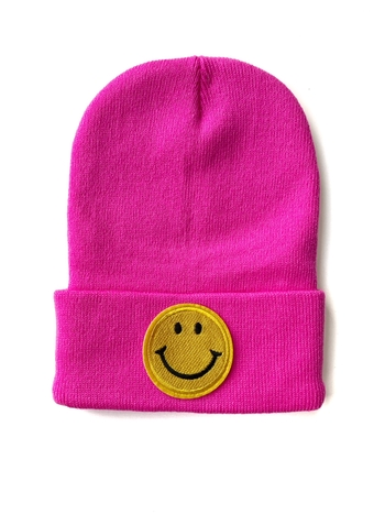 Image Knit Hat with Smiley