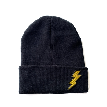 Image Knit Hat with Small Bolt