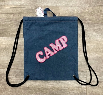 Image Denim Sling Bag With Pink Camp