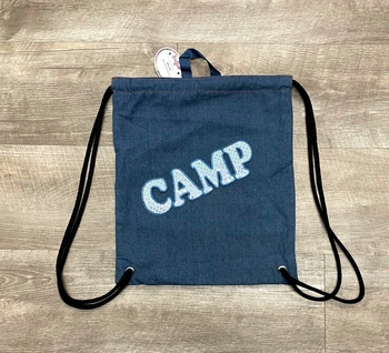 Image Denim Sling Bag with Blue Camp