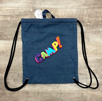 Image Denim Sling with Rainbow Camp