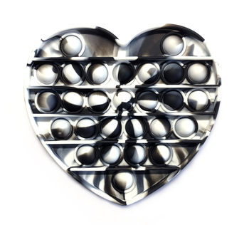 Image Black & White Tie Dye Heart Crazy Snaps
