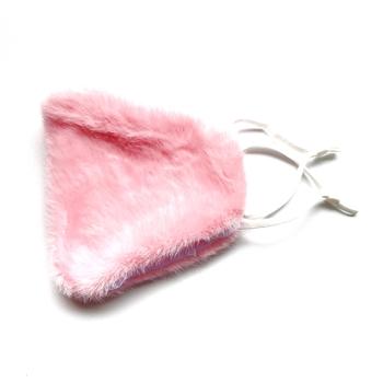 Image Light Pink Plush Mask