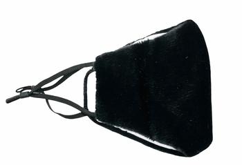 Image Black Plush Mask