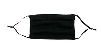 Image Black Jersey Pleated Mask