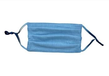 Image Light Blue Jersey Pleated Mask