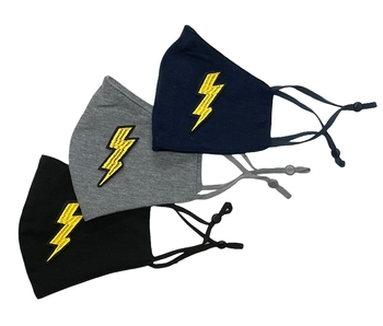 Image Jersey Mask with Embroidered Lighteningbolt