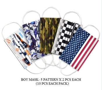 Image Boys Disposable Mask 10 pack