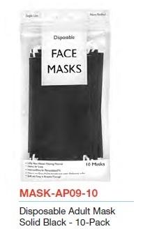 Image Black Disposable 10 Pack Mask