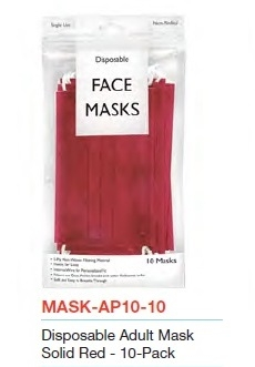 Image Red Disposable 10 Pack Mask